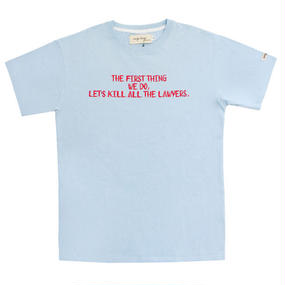 [EASY BUSY] Lawer T-Shirts - Sky Blue