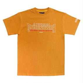 I AM NOT A HUMAN BEING[17SS] [17SS] Arch Ver. Basic Logo T-Shirts - Orange