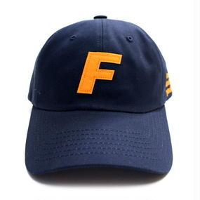 [Fresh anti youth] Fray Logo Ball Cap - Navy