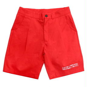 I MA NOT A HUMAN BEING[17SS] Basic Logo Shorts – Red