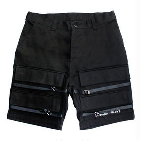I AM NOT A HUMAN BEING[17SS] Basic Logo Front Pocket Shorts - Black