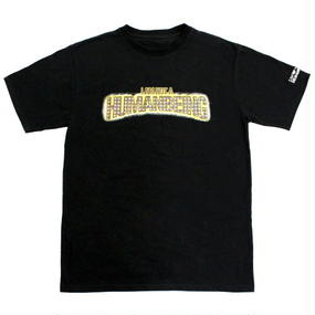 I AM NOT A HUMAN BEING[17SS] Bling Logo T-Shirts – Black