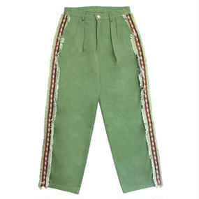 [EASY BUSY] Sidedetail Chino Pants – Green