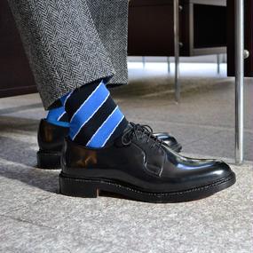 London Shoe Make THE SOCKS | No,416904 散髪屋/Barber 日本製 メンズソックス・ブルー