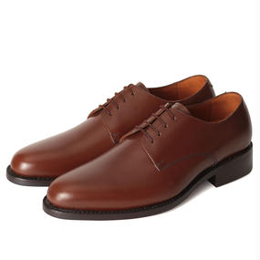 No.317|Plain Toe Derby|Middle Brown