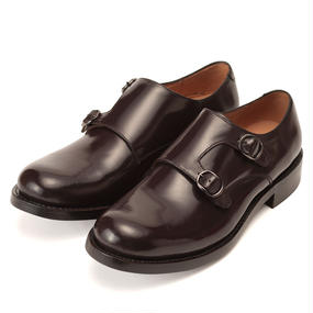 No.622|Double Monk Strap|Dark Burgundy