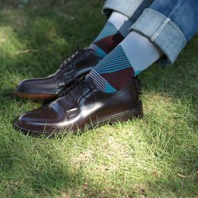 London Shoe Make THE SOCKS| No,416901 数学者/Mathmatician 日本製 メンズソックス・ブラウン