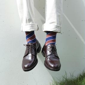 London Shoe Make THE SOCKS | No,416904 散髪屋/Barber 日本製 メンズソックス・レッド