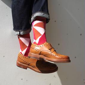 London Shoe Make THE SOCKS| No,416902 冒険家/Adventurer 日本製 メンズソックス・ピンク
