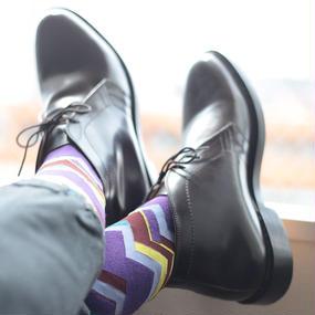 London Shoe Make THE SOCKS|No,416903 登山家/Alpinist 日本製 メンズソックス・パープル