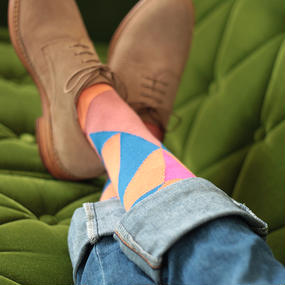 London Shoe Make THE SOCKS| No,416902 冒険家/Adventurer 日本製 メンズソックス・ブラウン