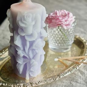 rose candle ブルーローズ