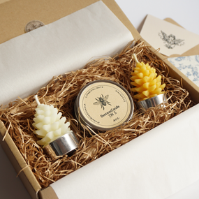 beeswax candle for gift