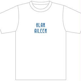 【Klan Aileen】バンド・ロゴ Tシャツ  (白/青ロゴ)