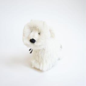 置物 ウェストハイランドホワイトテリア  アルパカ素材のフェルト人形