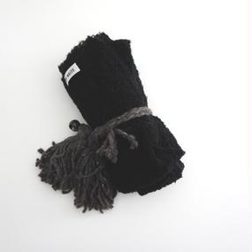 アルパカスモールブランケット ブラック