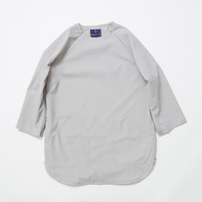 Water-repellent Dot Mesh Loop Zip Sweatshirt/GREY