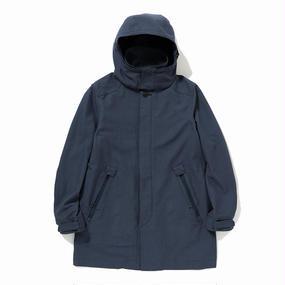 Cotton Birds Eye Bal Collar Coat/NAVY