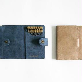 Twill Pattern Leather Key Case
