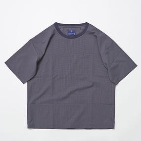 Water-repellent Dot Mesh Packable Pocket Tee/CHARCOAL