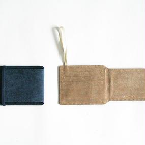 Twill Pattern Leathe Card Case