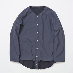 Water-repellent/Coolmax Reversible 4Way Shirts JKT/STEEL×NAVY