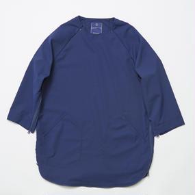 Water-repellent Dot Mesh Loop Zip Sweatshirt/NAVY