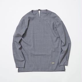 Cordura Wool Stretch Window-pen Pullover SH/GREY