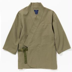 """Cotton Birds Eye Monk's Working Clothes """"SAMUE""""/KHAKI"""