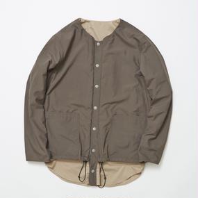 Water-repellent/Coolmax Reversible 4Way Shirts JKT/CHARCOAL×BEIGE