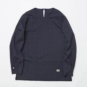 Cordura Wool Stretch Window-pen Pullover SH/NAVY