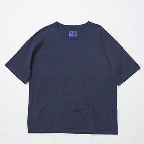 Single Jersey Packable Pocket Tee/NAVY