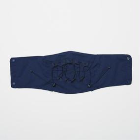Water-repellent Dot Mesh Waving Cord Neck Gaiter/NAVY