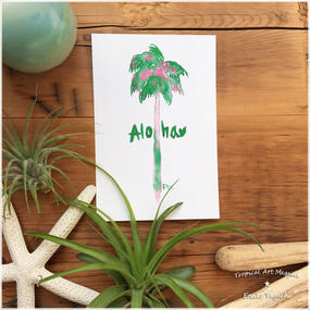 Aloha Green palm tree