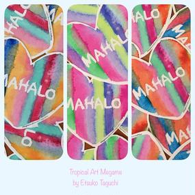 MAHALO シール(1枚)
