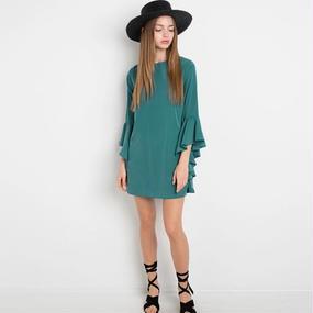 B110 Elegant Frill Mini Dress
