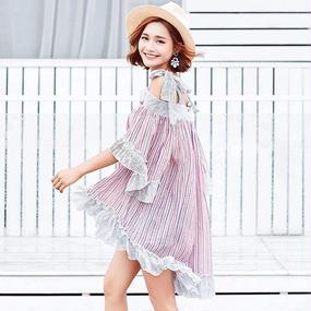 B128 Summer Striped Dress