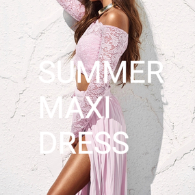 B131 Summer Maxi Dress 2color