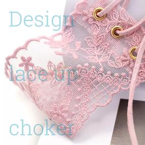B126 Design lace up choker 2color❤