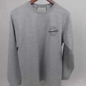 HUNGER KNOCK / NO LOMITS Long Sleeve Tee ◆Gray