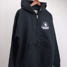 HUNGER KNOCK / SKULL SWEAT ZIP Hoodie ◆Black