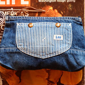 """LEE"" Over All Pouch (Washed Denim×Hickory)"