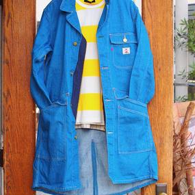 """""""DE-NA-LI"""" Denim Shop Coat(Blue)"""