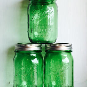 """BALL""Mason Jar 16oz (480ml)  [Color:GREEN]"