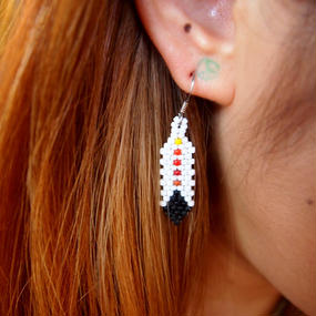 NAVAJO Beads Feather Earrings