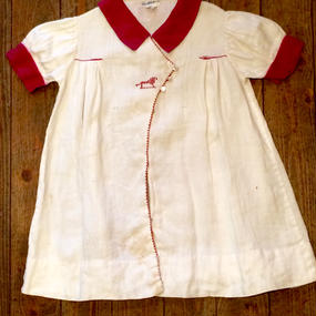SAKS FIFTH AVENUE 50's Vintage Linen One Piece[アメリカ買付]