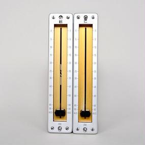 LE 266 / balanced passive fader mono 2 unit / yellow+silver