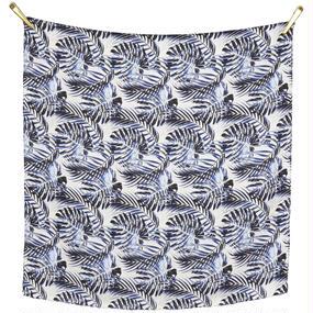 〝PALM  LEAVES〟春夏シルクスカーフ 北欧 デンマーク