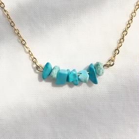 89 turquoise stone necklace