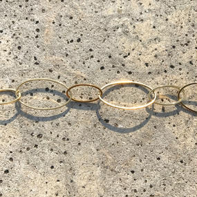 123 big oval chain choker